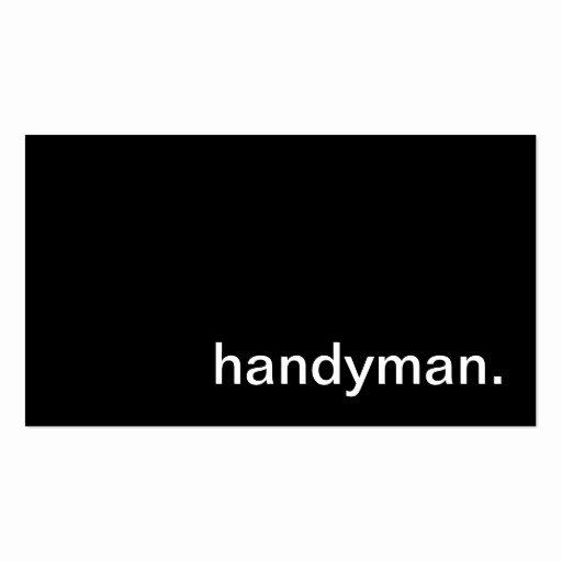 Handy Man Business Cards Inspirational Handyman Business Card