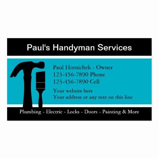 Handy Man Business Cards Inspirational Modern Handyman Business Cards