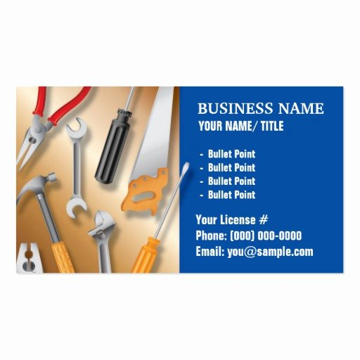 Handy Man Business Cards New Construction or Handy Man Business Card