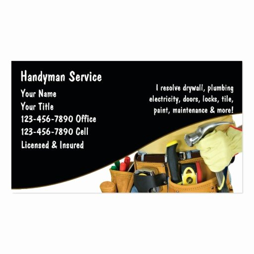 Handy Man Business Cards New Handyman Business Cards