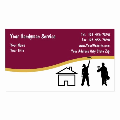 Handy Man Business Cards New Simple Handyman Business Cards