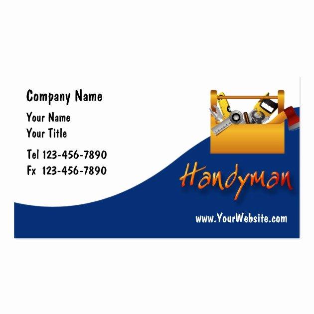 Handy Man Business Cards Unique Handyman Business Cards