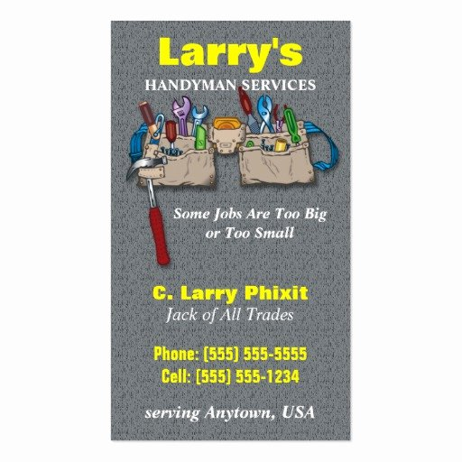 Handyman Business Cards Templates Free Beautiful Handyman Business Card