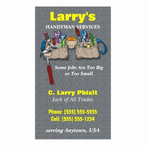 Handyman Business Cards Templates Free Beautiful Handyman Business Card
