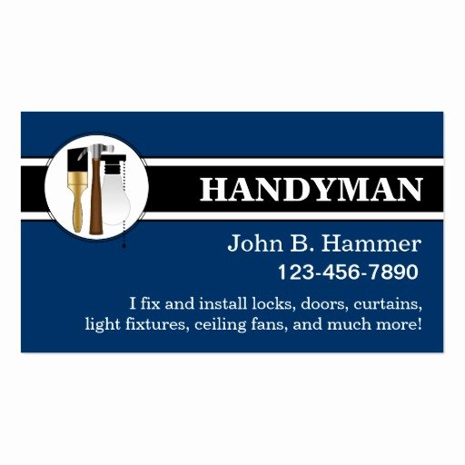Handyman Business Cards Templates Free Elegant Handyman Business Cards