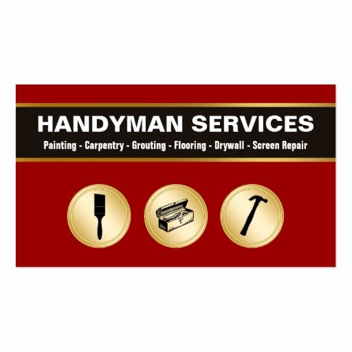 Handyman Business Cards Templates Free Fresh Handyman Business Cards