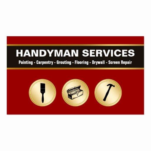 Handyman Business Cards Templates Free Fresh Handyman Business Cards