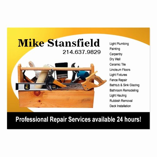 Handyman Business Cards Templates Free Luxury Home Repair Handyman Business Card Templates