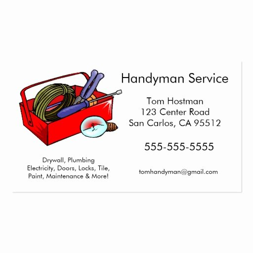 Handyman Business Cards Templates Free Luxury Man Card Template