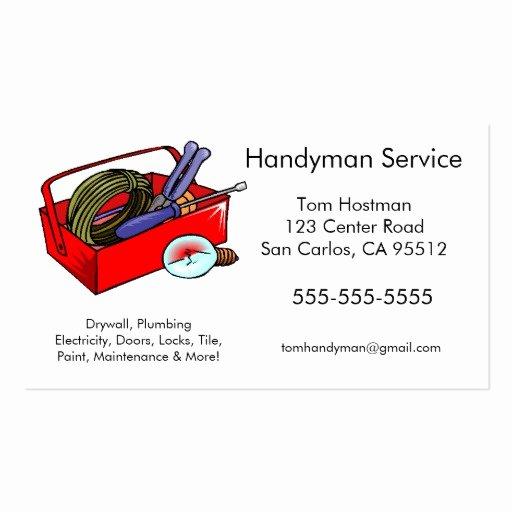 Handyman Business Cards Templates Free Luxury Man Card Template