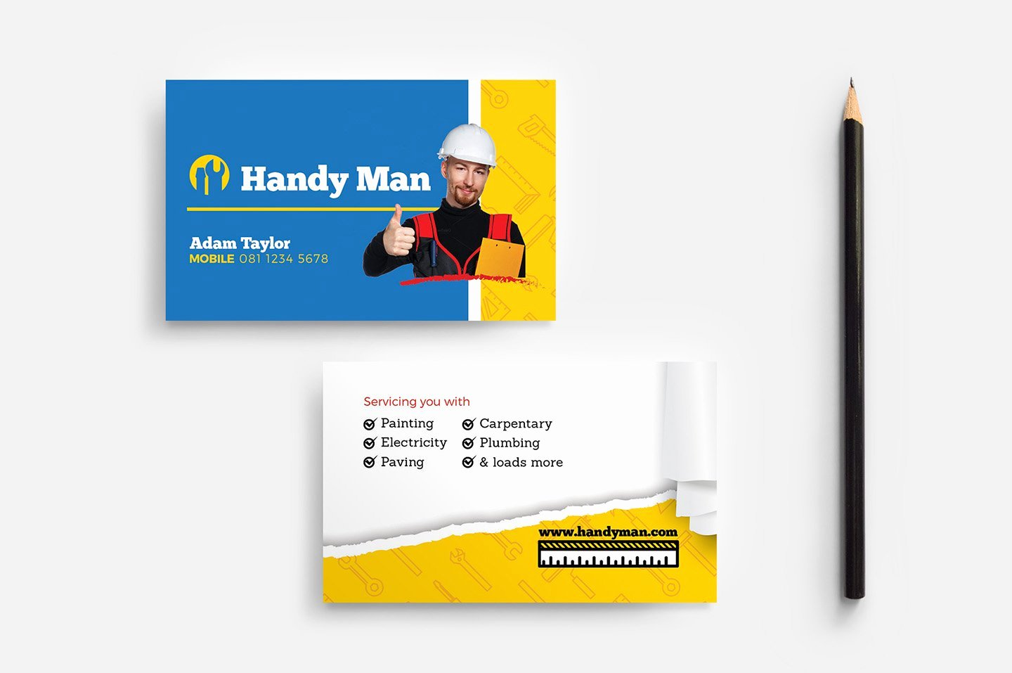 Handyman Business Cards Templates Free New Handyman Business Card Template Business Card Templates Creative Market