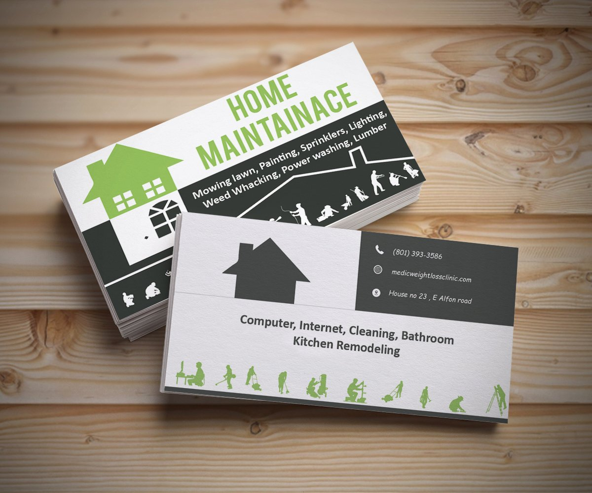 Handyman Business Cards Templates Free Unique Handyman Business Cards