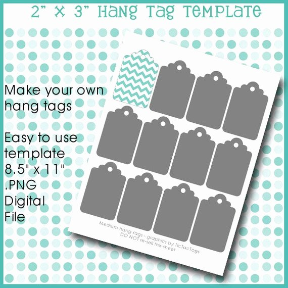 Hang Tag Design Template Elegant Instant Download Hang Tag Gift Template Collage Set by