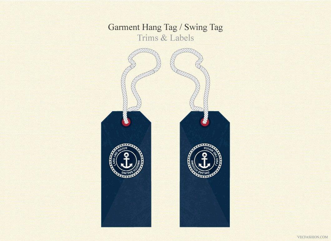 Hang Tag Design Template Inspirational Garment Hang Tag Swing Tag Illustrations Creative Market