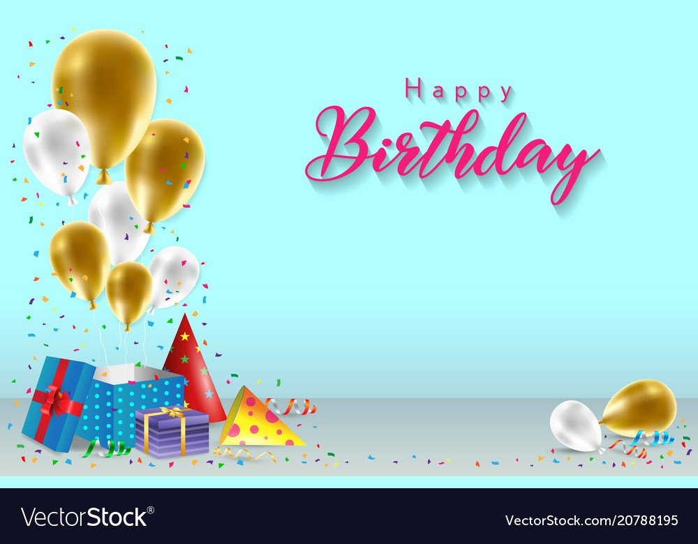 Happy Birthday Background Images Awesome Happy Birthday Background Template Royalty Free Vector Image