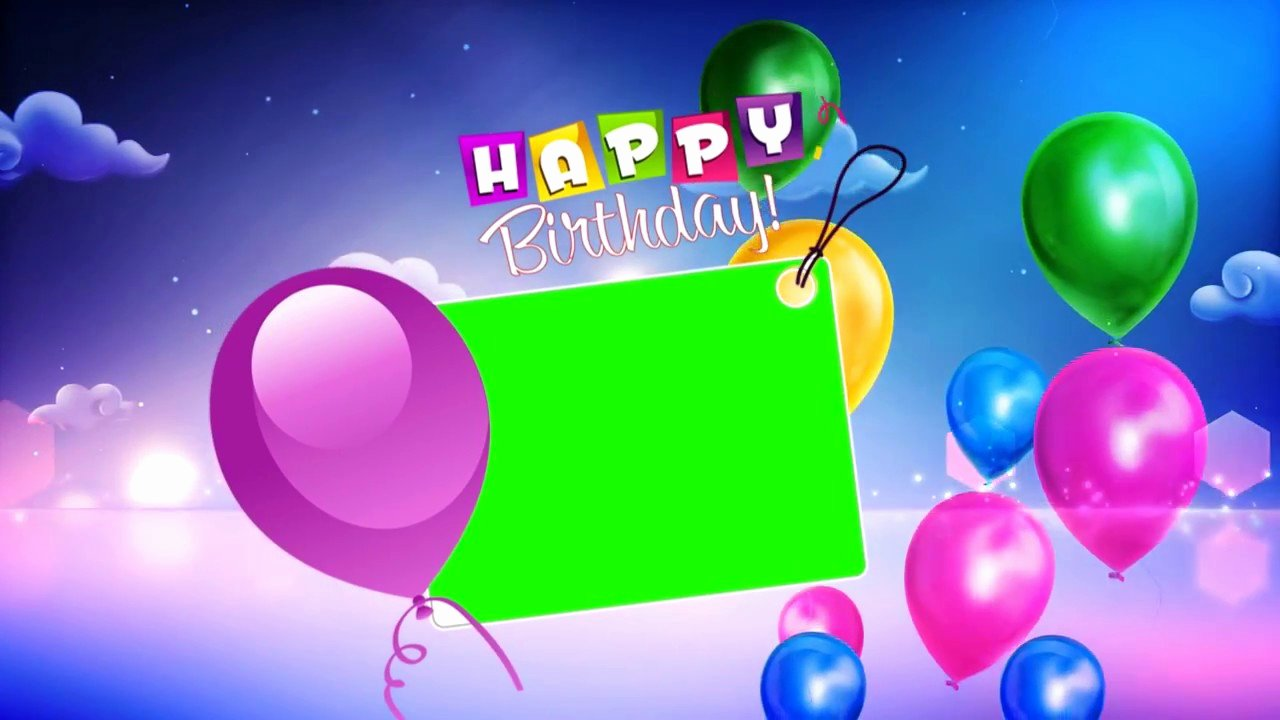 Happy Birthday Background Images Lovely Happy Birthday Wishes with Green Background Video