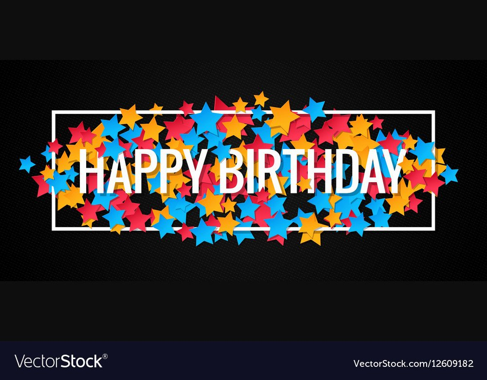 Happy Birthday Banner Design Elegant Happy Birthday Banner Design Background Royalty Free Vector