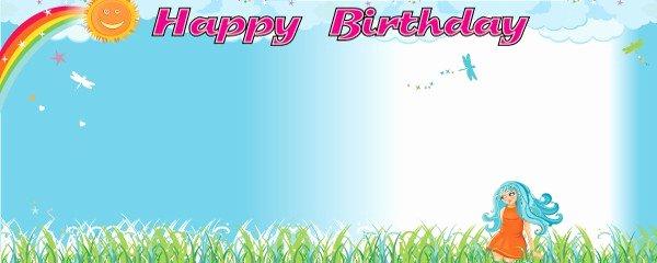 Happy Birthday Banner Design Fresh Happy Birthday Rainbow Design Personalised Banner