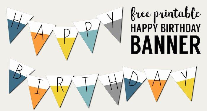 Happy Birthday Banner Design New Free Printable Happy Birthday Banner Paper Trail Design
