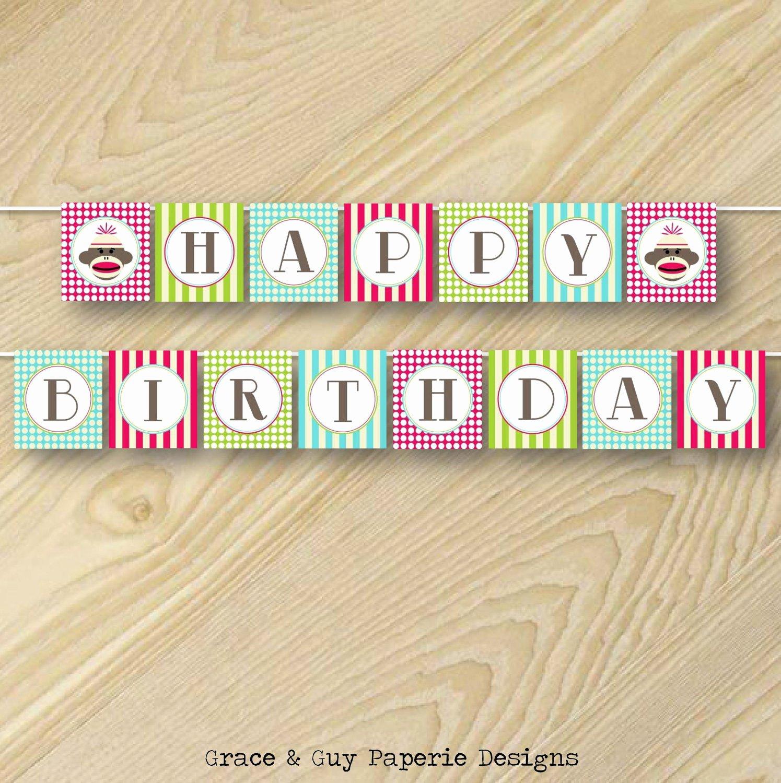 Happy Birthday Banner Design Unique Printable Happy Birthday Banner Design Vintage