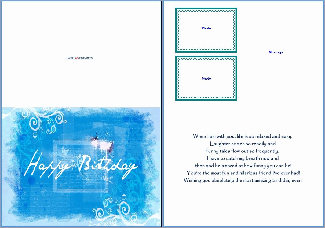Happy Birthday Template Word Beautiful Birthday Card Template