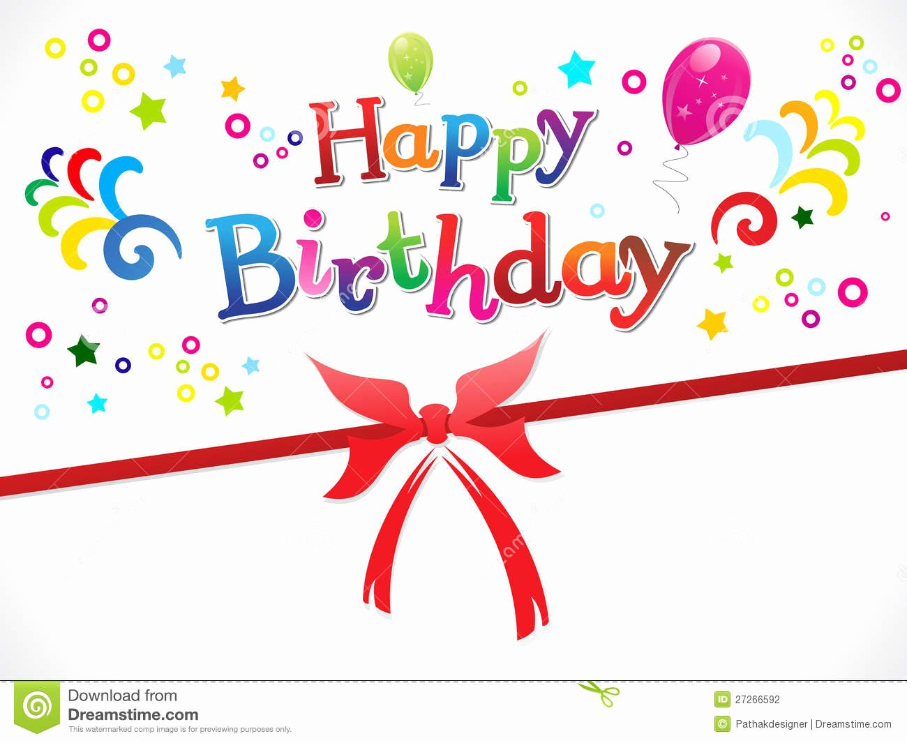 Happy Birthday Template Word Elegant Abstract Happy Birthday Template Stock Graphy Image
