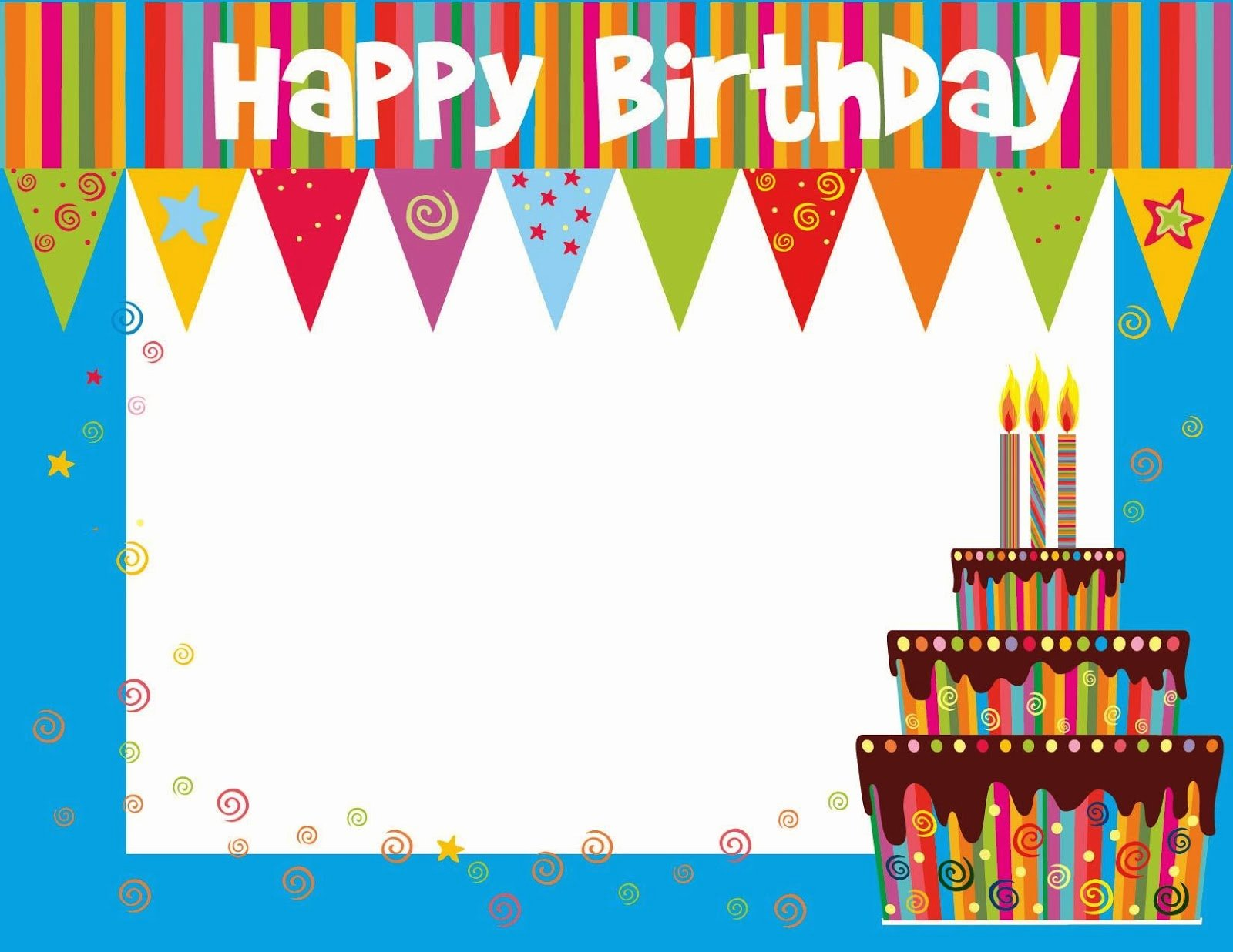 Happy Birthday Template Word Elegant Free Printable Birthday Cards Ideas Greeting Card Template