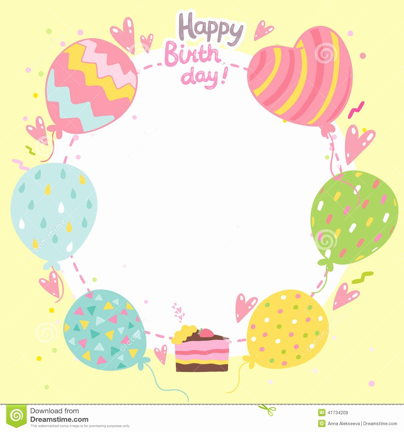 Happy Birthday Template Word Inspirational Birthday Card Template