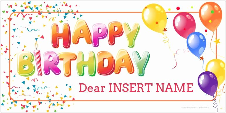 Happy Birthday Template Word Unique Birthday Banner Templates for Ms Word