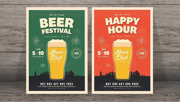 Happy Hour Flyer Template Awesome 24 Happy Hour Flyer Templates Free Psd Ai Eps format Downloads