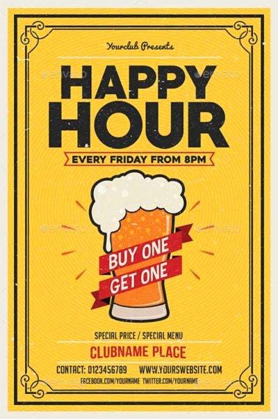 Happy Hour Flyer Template Best Of Ffflyer
