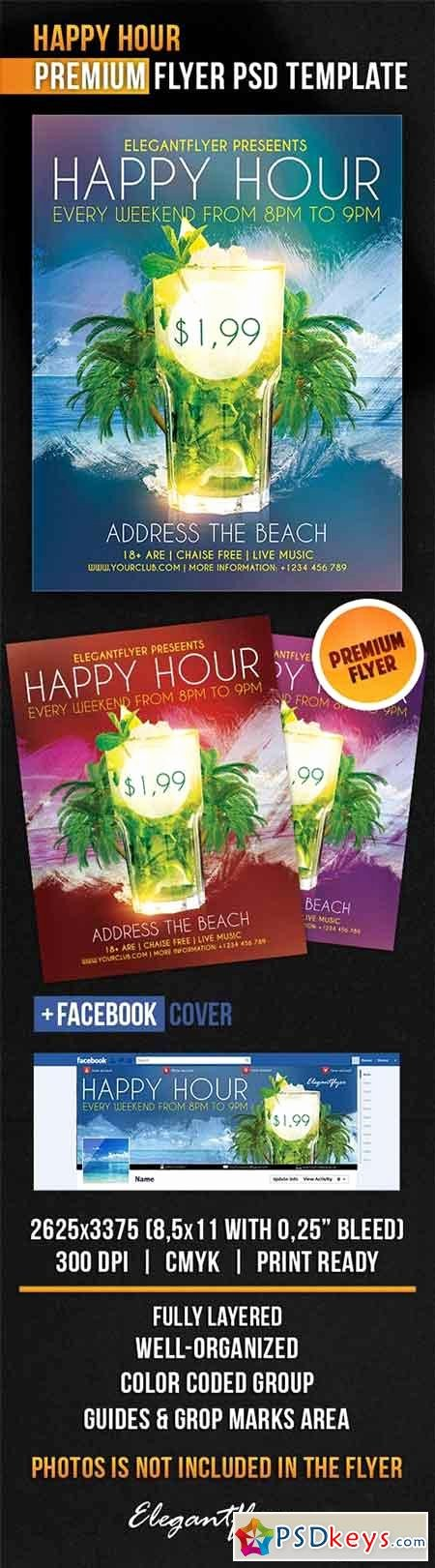 Happy Hour Flyer Template Best Of Happy Hour Flyer Psd Template Cover Free Download Shop Vector Stock Image Via