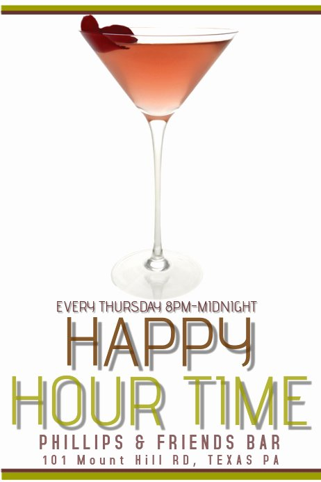 Happy Hour Flyer Template Best Of Happy Hour Template