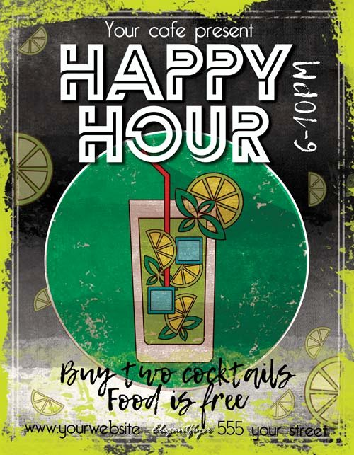 Happy Hour Flyer Template Free Awesome Happy Hour Free Pub Flyer Template Download Free Flyer