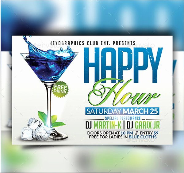 Happy Hour Flyer Template Free Fresh 23 Happy Hour Flyer Templates Psd Vector Eps Jpg Download