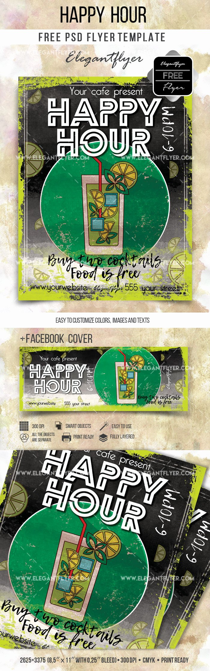 Happy Hour Flyer Template Free Fresh Happy Hour Flyer Free Psd Template – by Elegantflyer