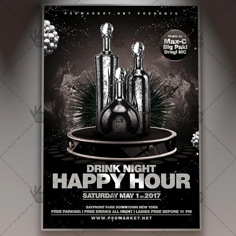 Happy Hour Flyer Template Free Fresh Happy Hour Premium Flyer Psd Template Free and Premium Psd Templates