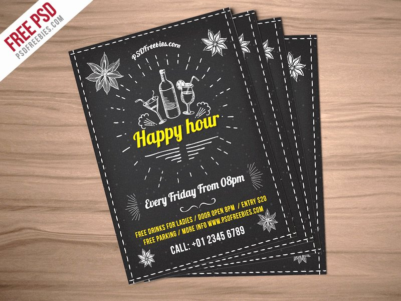 Happy Hour Flyer Template Free Inspirational 8 Free Invitation Psd Templates Shop Example format Download