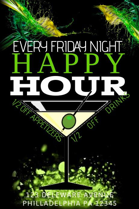 Happy Hour Flyer Template Free Inspirational Happy Hour Template