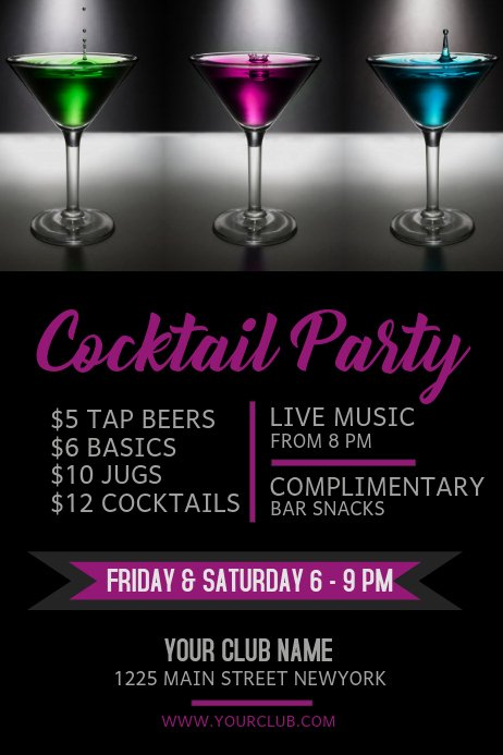 Happy Hour Flyer Template Free Lovely Copy Of Happy Hour Bar Flyer