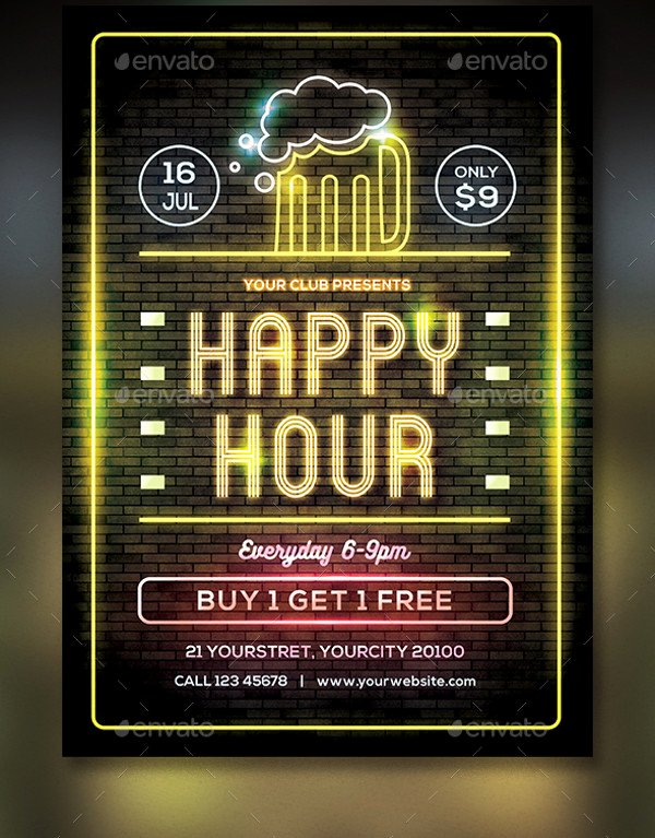 Happy Hour Flyer Template Free Luxury 23 Happy Hour Flyer Templates Psd Vector Eps Jpg Download
