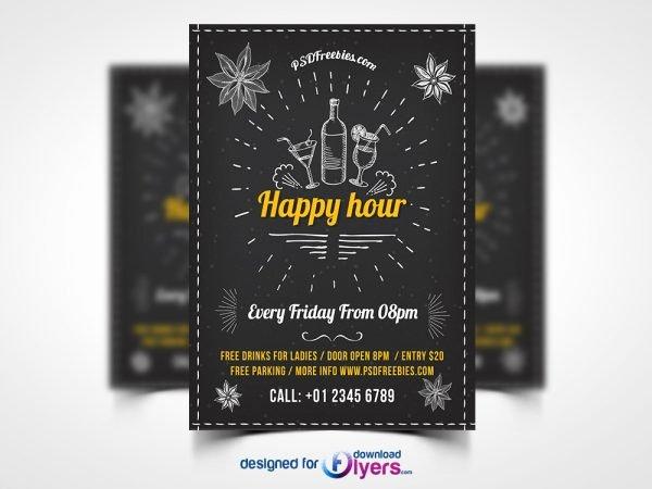 Happy Hour Flyer Template Free Unique Flyer