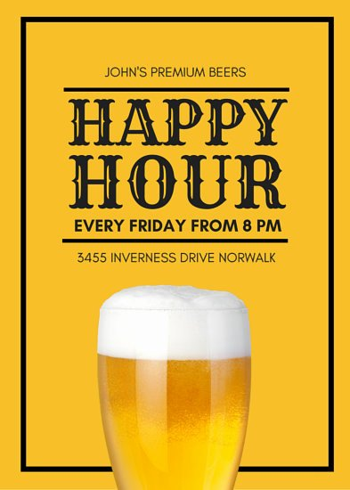 Happy Hour Flyer Template Inspirational Customize 171 Happy Hour Flyer Templates Online Canva