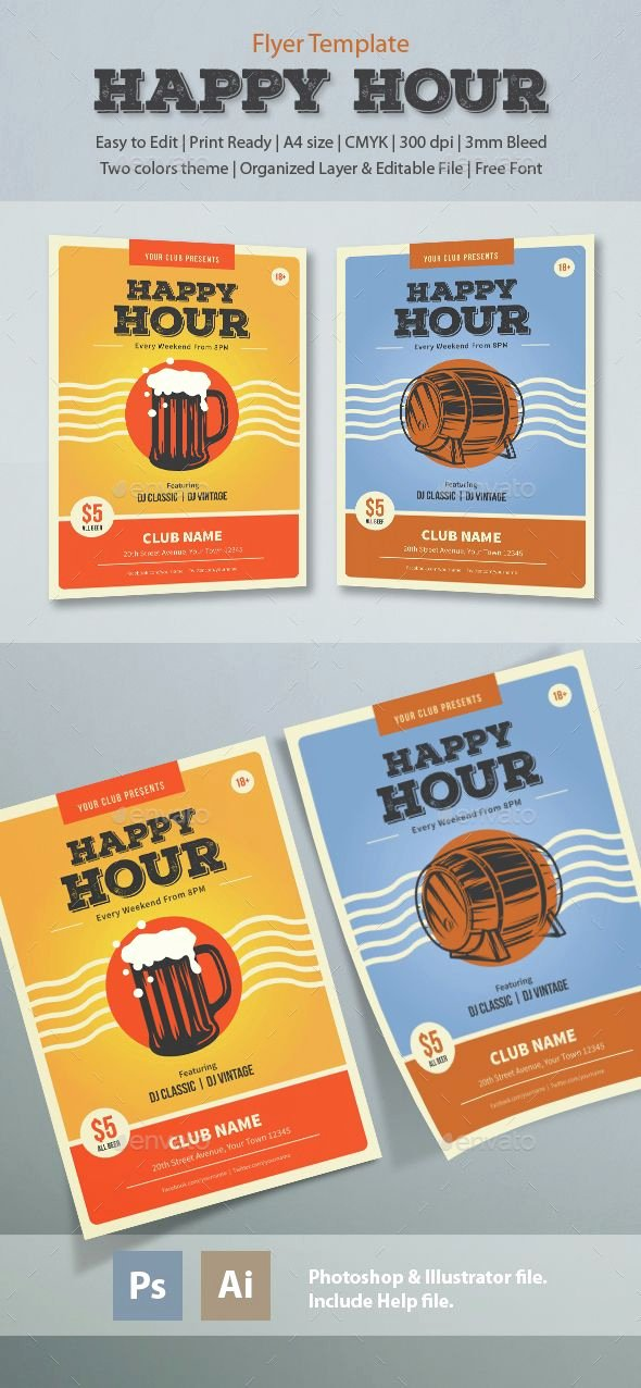 Happy Hour Flyer Template Unique 17 Best Images About Happy Hour Flyer On Pinterest