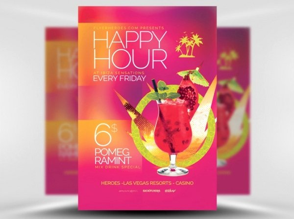 Happy Hour Flyer Templates Free Beautiful 23 Happy Hour Flyer Templates Psd Vector Eps Jpg