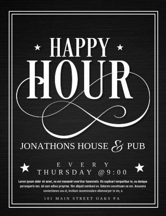 Happy Hour Flyer Templates Free Best Of Happy Hour Template