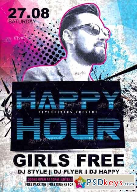 Happy Hour Flyer Templates Free Inspirational Happy Hour V4 Psd Flyer Template Free Download Shop