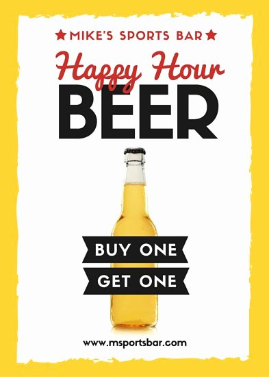 Happy Hour Flyer Templates Free Lovely Wine Bar Happy Hour Flyer Templates by Canva