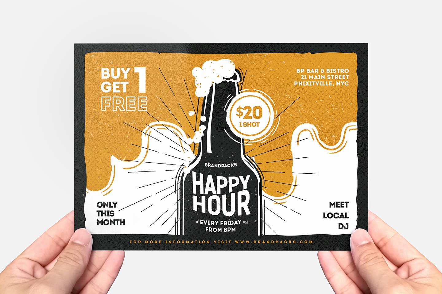 Happy Hour Flyer Templates Free Unique Happy Hour Flyer Template Psd Ai & Vector Brandpacks