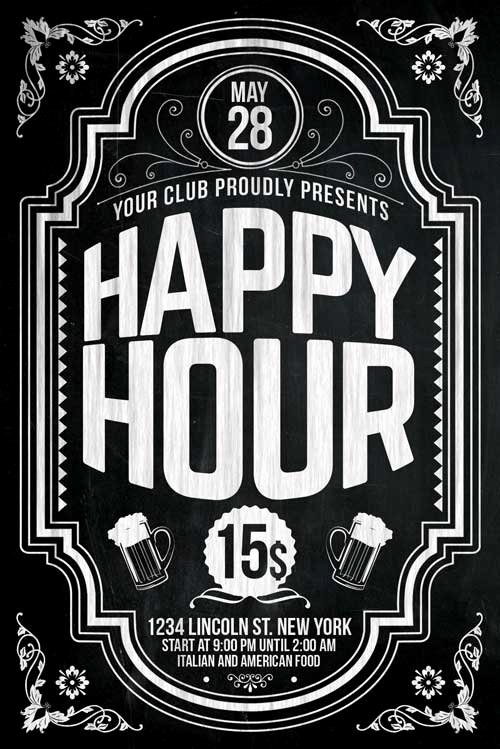 Happy Hour Flyer Templates Free Unique Happy Hour Flyer Template Psd Download Xtremeflyers
